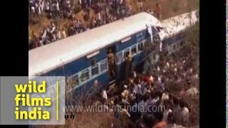 Train accident in Bangalore : train derails and many die