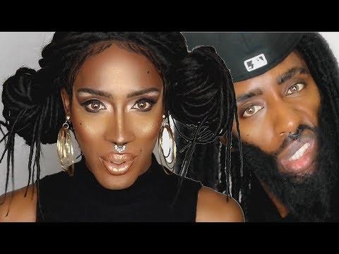 Nina Bonina Brown Makeup transformation Trade to Trish Tutorial