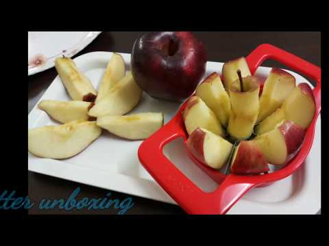 Apple cutter product review || cut hole Apple in just 3 seconds without seeds || Apple cutter hindi