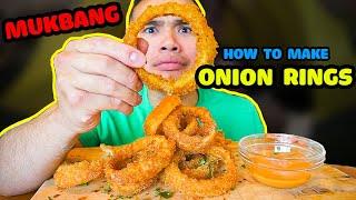 How to make ONION RINGS | MUKBANG