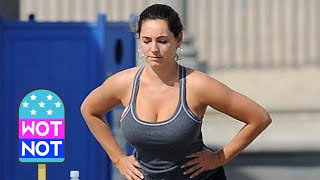 Kelly Brook's Rigorous Workout Routine! Los Angeles