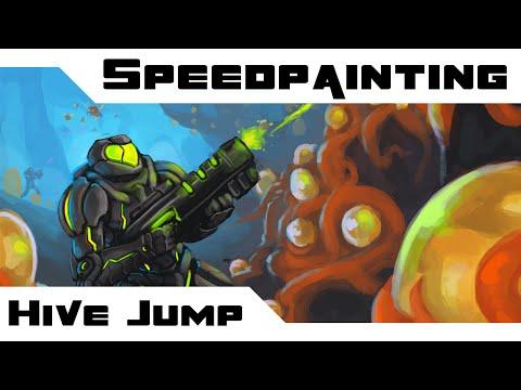 Speedpainting: Hive Jump Fanart