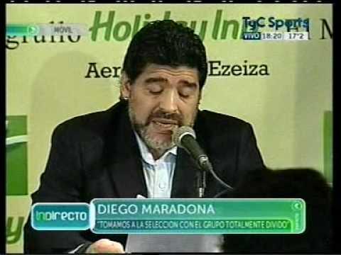 Maradona dijo que Grondona me mintió y Bilardo me traicionó
