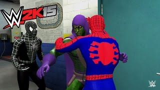 Spiderman vs Venom vs Carnage vs Green Goblin - Spider-Man And His Enemies - WWE 2K15