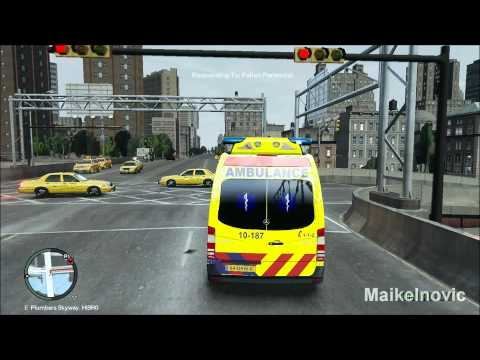 GTA4: [Paramedic Mod] - EMS 10-187 - Respond to Fallen Person