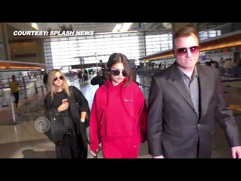 Selena Gomez ROCKS Red Hoodie & Matching Pants thumbnail