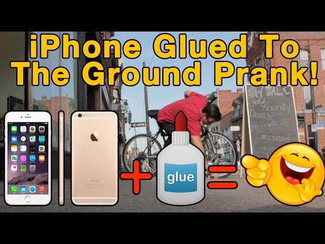 iPhone 6 Glued to the Ground Prank (Carson Street, Pittsburgh)