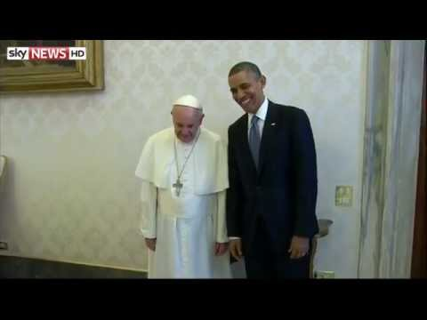 President Obama Meets Pope Francis