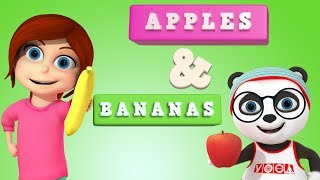Apples and Bananas with Yankee Doodle went to Town | Best Nusery Rhymes | WooHoo Rhymes 3D