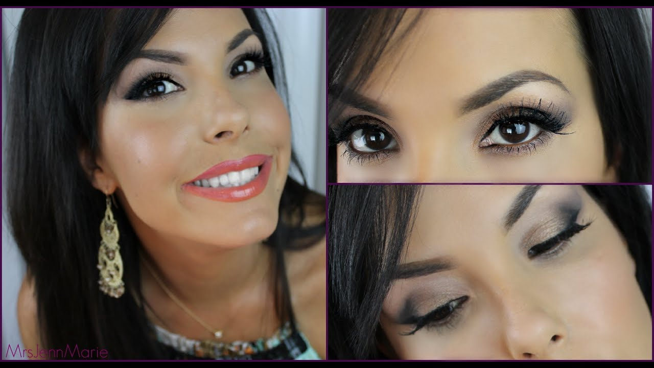 Makeup for Round Shaped Eyes - YouTube