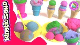 """Làm """" Kem Khủng Long"""" Bằng Cát Động Lực Kinetic Sand ( Bí Đỏ) Kinetic Sand  Dinosaur  Ice Cream"""