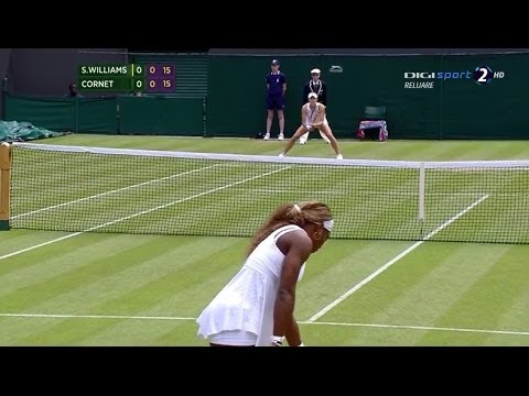 Serena Williams (USA) vs Alize Cornet (FRA) - WIMBLEDON 2014 (3rd round)