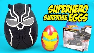 Avengers Toys & BLACK PANTHER - Superhero Play-doh Surprise Eggs & Toy Opening by KidCity