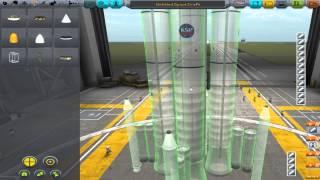 KSP Reaching Kerbin Orbit Using Only Solid Fuel Rockets