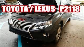 LEXUS RX350 P2118 wont accelerate ETCS also FUSE BOX LOCATION toyota rx