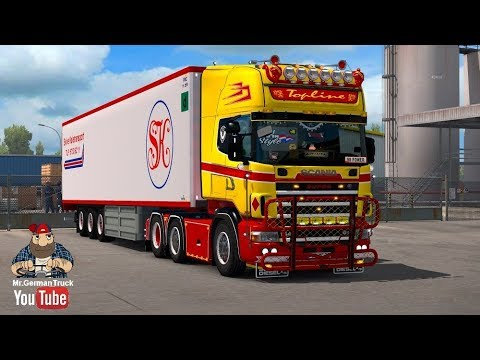 [ETS2 v1.28] Scania 4 Series (RJL) Red & Yellow + Accessory Pack