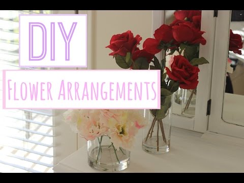 DIY Flower arrangements with acrylic water