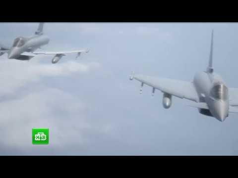 Кадры перехвата бомбардировщиков США российским Су-27
