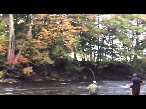 Fly fishing salmon river ny youtube for Salmon river ny fishing regulations