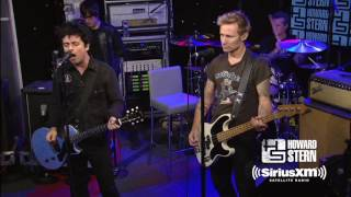 "Green Day ""Holiday"" Live on the Howard Stern Show"