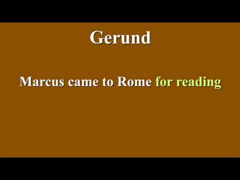 Gerunds and Gerundives