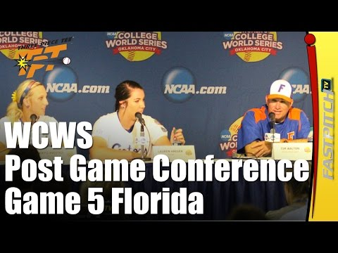 2015 WCWS | Post Game 5 Press Conference | Florida
