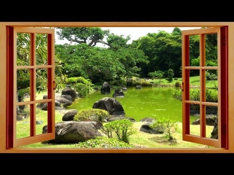 ☯ Relaxing Sounds of Nature ☯ Birds, Wind & Water in Japanese Gardens