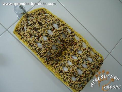Porta Papel Higiênico em Croche Firenze - Jogo de Banheiro em Crochê Music Videos