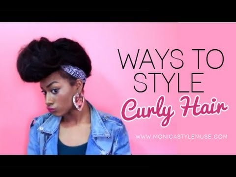How to : Do quick Hairstyles For Curly hair