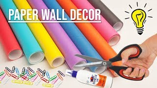 Wall hanging craft idea from color paper // DIY WALL DECOR IDEA //  Handcraft idea