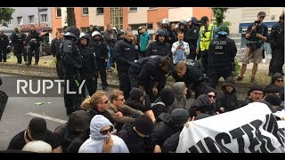 LIVE: Counter protest hits anti-immigration 'Identitarian Movement' demo in Berlin