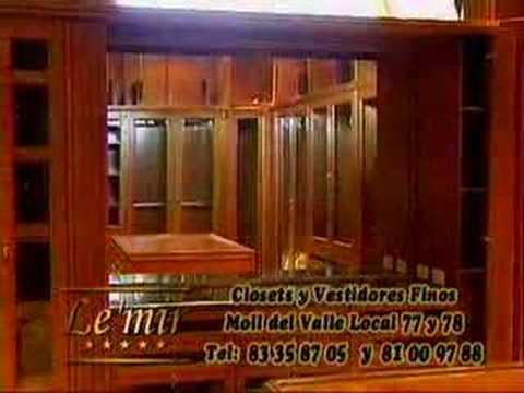 Le 39 mir closets en monterrey vestidores finos youtube for Closets finos madera
