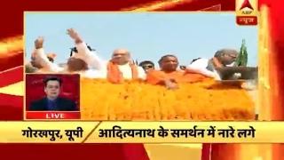 Fatafat: Amit Shah holds roadshow; people chant Yogi Yogi, Modi Modi