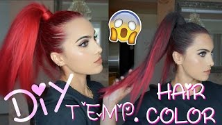 DIY TEMPORARY HAIR COLOR | HIGH SLEEK PONYTAIL