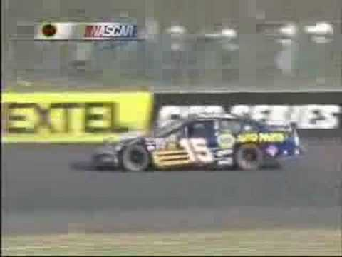 Robby Gordon/Michael Waltrip Helmet Throwing Incident Video