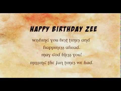 Happy birthday to Zee bhaieyaa Virtual University of Pakistan