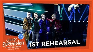 THE NETHERLANDS 🇳🇱 - EXCLUSIVE REHEARSAL FOOTAGE - FOURCE - LOVE ME - JUNIOR EUROVISION 2017