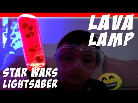 How to make Star Wars Lightsaber Lava Lamp – Science Experiment