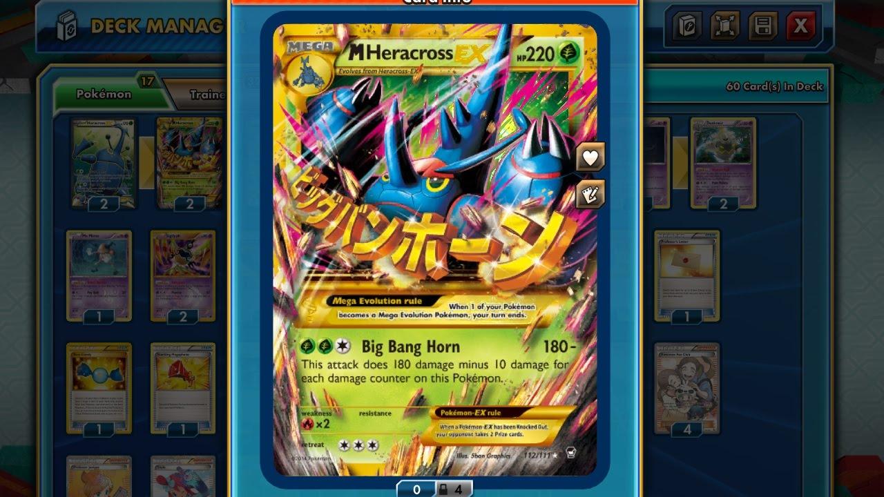 Pokémon TCG Online - Mega Heracross Deck! - YouTube