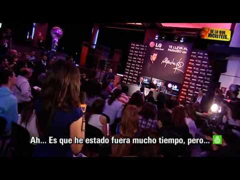 SLQH: Alejandro Sanz expulsa a Paula Prendes de su rueda de prensa
