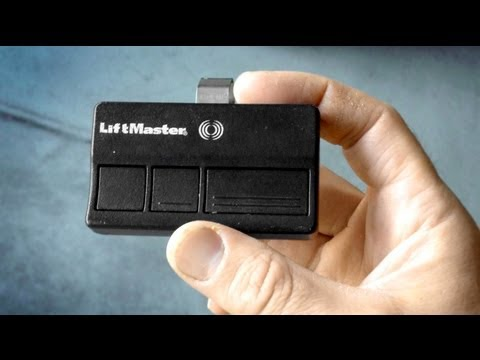 How to program a Garage Door Remote & change battery LiftMaster Chamberlain