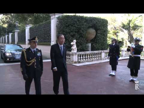 Roma - Il Presidente Mattarella incontra Ban Ki moon (18.03.15)