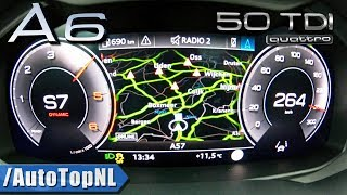 2019 AUDI A6 50 TDI ACCELERATION & TOP SPEED 0-264km/h LAUNCH CONTROL by AutoTopNL