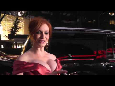 Christina Hendricks Thinks You're Looking at her Hair