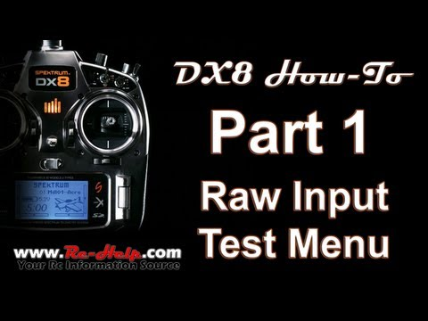 DX8 How-To Pt. 1 Raw Input Test Menu