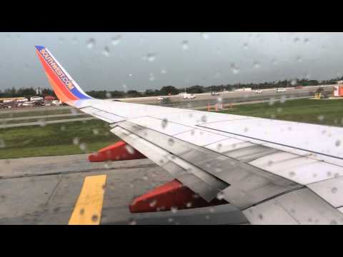 Southwest Airlines Take Off From FLL Airport Raw Video