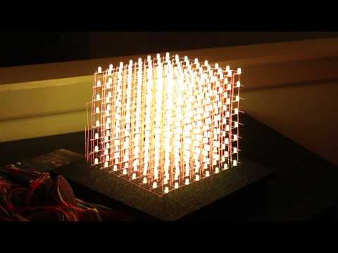 How To RGB 8x8x8 LED CUBE - DEMO!