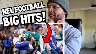 Rugby Player Reacts to NFL Biggest Football Hits Ever YouTube Video!