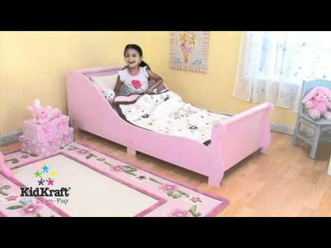 Cama rosa con barandilla para ni as de kidkraft en - Camas de princesas para nina ...