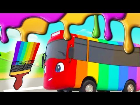 Learning Colors For Kids | Buster Changes Color | Go Buster | BRAND NEW! | Little Baby Bum